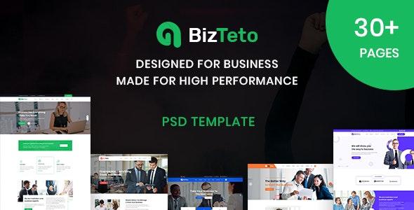 BizTeto - Corporate, Business & Financial Services PSD Template - Business Corporate