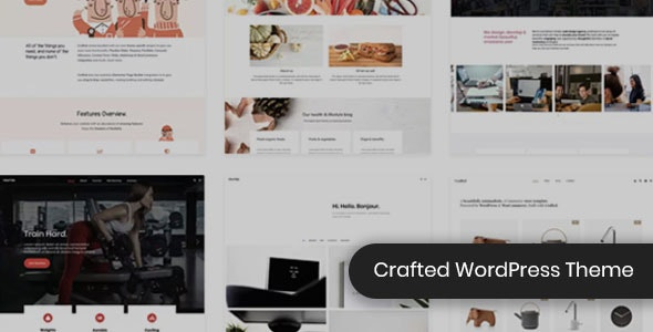 Crafted - Versatile Elementor WordPress Theme - Creative WordPress