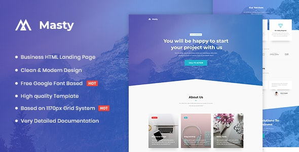 Masty - Business HTML Landing Page Template - Business Corporate