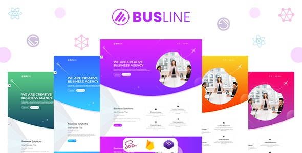 BusLine - Gatsby React Business Landing Page - Business Corporate