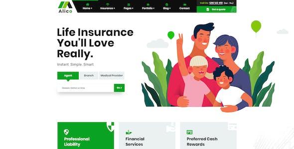 Alico - Insurance PSD Template