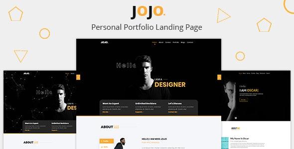 Jojo - Personal Portfolio Template - Personal Site Templates