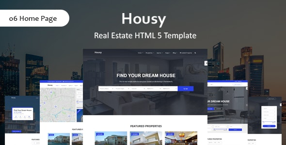 Housy - Real Estate HTML5 Template - Business Corporate