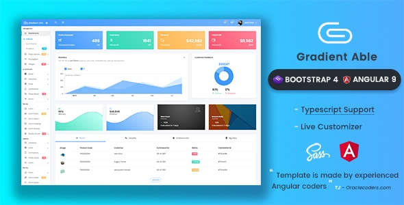 Gradient Able Bootstrap 4 & Angular 9 Admin Template - Admin Templates Site Templates