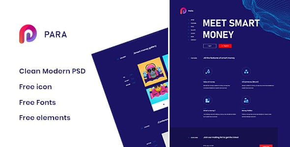 Para - Creative One Page PSD Template