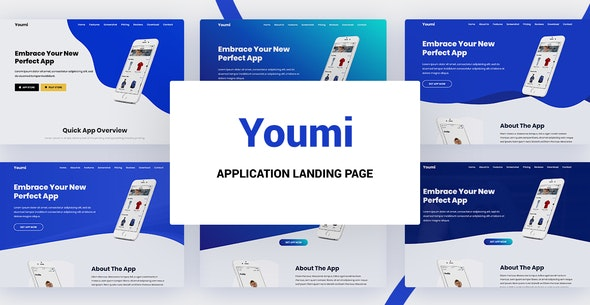 Youmi - Application Landing Page - Site Templates