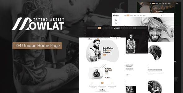 Dowlat - Inkd, Tattoo HTML Template