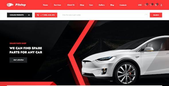 PitStop - Auto Parts Shop PSD