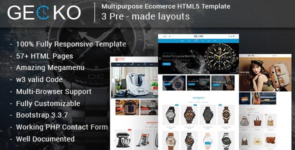 Gecko - Responsive Multipurpose E-Commerce HTML5 Template - Retail Site Templates