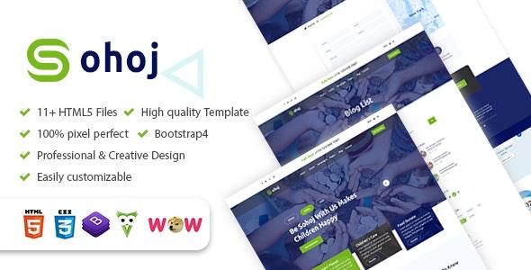 Sohoj - Charity, Nonprofit HTML5 Template - Nonprofit Site Templates