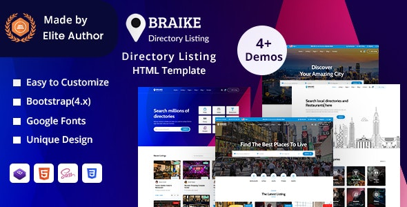 Braike - Directory & Listing HTML Template - Business Corporate