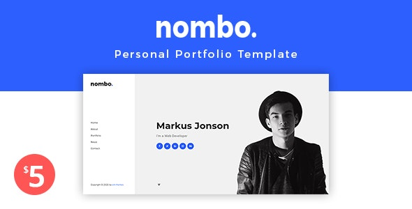 Nombo - Personal Portfolio Template + RTL - Virtual Business Card Personal