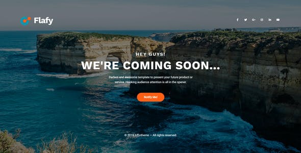 Flafy | Multipurpose Coming Soon HTML Template