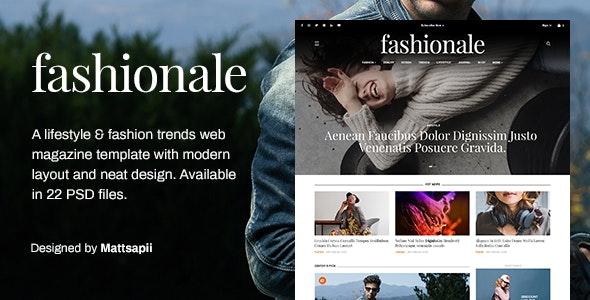 Fashionale - Lifestyle & Fashion Trend Magazine PSD Template - Fashion Retail