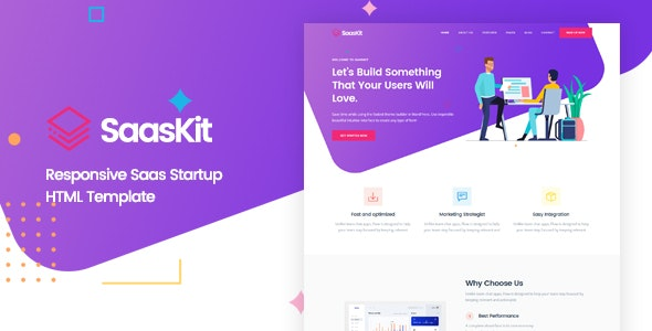 SaasKit - Saas Startup HTML Template - Technology Site Templates
