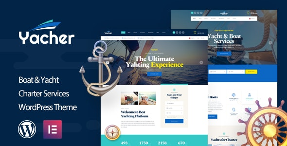 Yacher - Yacht Charter Services WordPress Theme - Business Corporate
