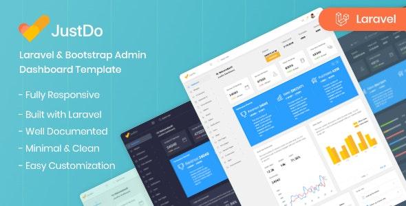 JustDo - Laravel Responsive Admin Template - Admin Templates Site Templates