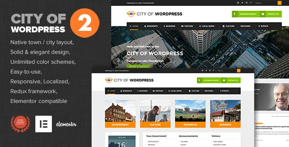 City of WP - Municipal & Local Government Theme