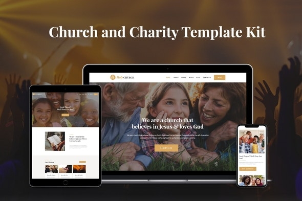 Holy - Church & Charity Template Kit - Non-Profit & Religion Elementor