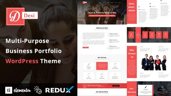 Dexi - Multi Purpose Business Portfolio WordPress Theme - Business Corporate