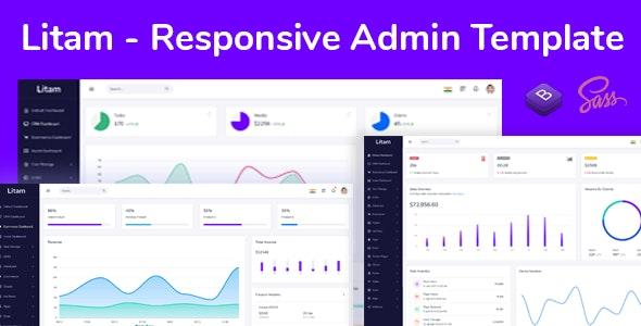 Litam - Responsive Admin Dashboard Template - Admin Templates Site Templates