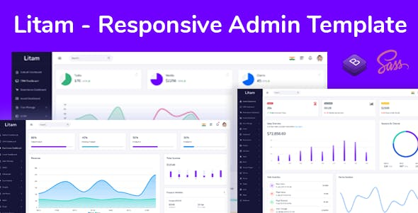 Litam - Responsive Admin Dashboard Template