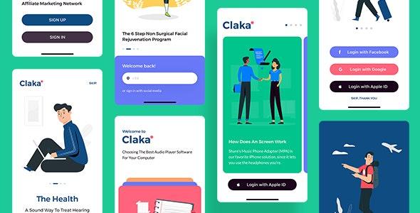 Claka UI KIT - Sketch UI Templates