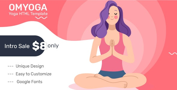 OMYOGA - Yoga Fitness HTML5 Template - Health & Beauty Retail