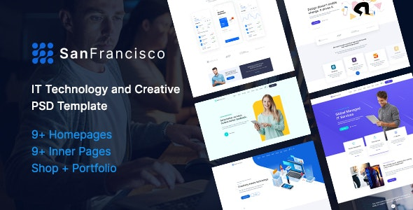 San Francisco - IT Technology and Creative PSD Template - Technology Photoshop