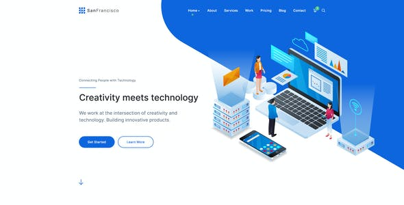 San Francisco - IT Technology and Creative PSD Template