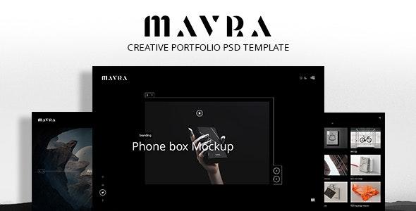 Mavra - Creative PSD Portfolio - Portfolio Creative