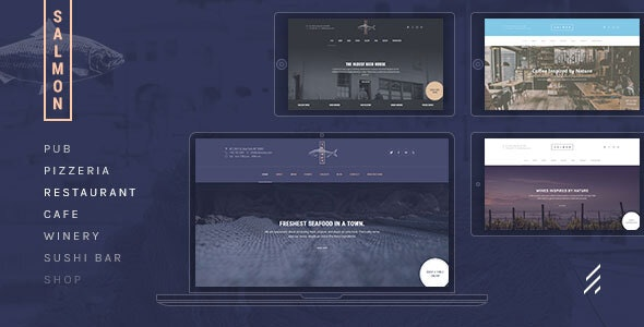 Salmon — Restaurant WordPress Theme - Restaurants & Cafes Entertainment