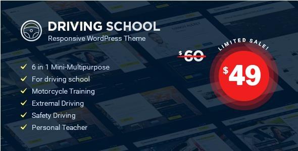 Driving School - WordPress Theme - Education WordPress