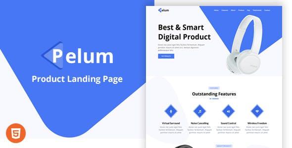 Pelum - Product Landing Page