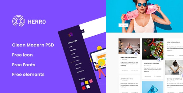 Herro - Creative Agency PSD Template - Creative PSD Templates