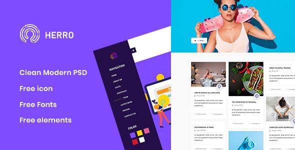 Herro - Creative Agency PSD Template