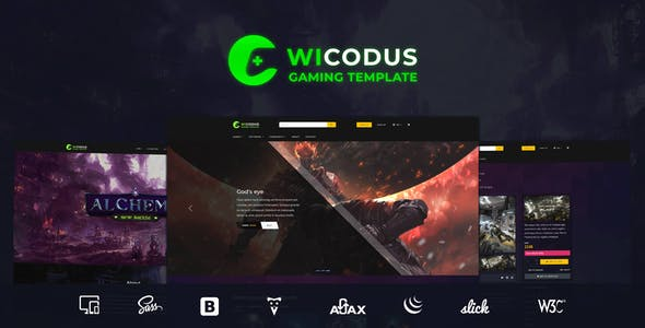 Wicodus - Multi-Purpose HTML Gaming Template