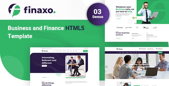 Finaxo - Business and Finance HTML5 Template - Business Corporate