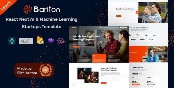 Bariton - React Next IT & Machine Learning Template - Business Corporate