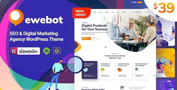 ewebot seo uyumlu dijital pazarlama teması