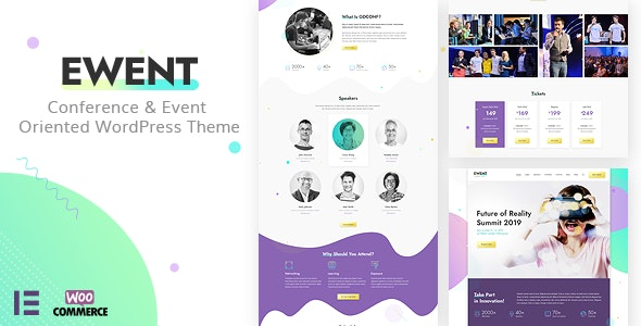 Ewent - Conference & Event Oriented WordPress Theme - Events Entertainment