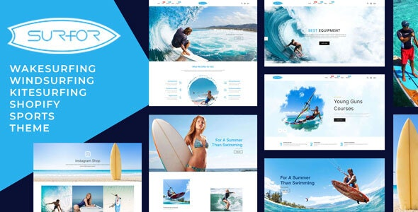 Surfor - Windsurfing Sports Responsive Shopify Theme - Shopify eCommerce