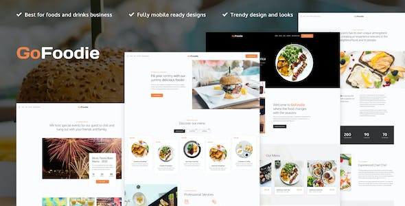 GoFoodie - Cafe & Restaurant Elementor Template Kit