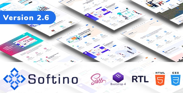 Softino - Software Landing Page - Technology Site Templates