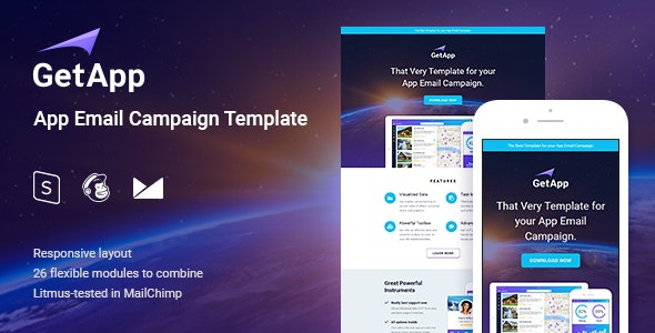 GetApp - App Email Campaign Newsletter Template - Email Templates Marketing