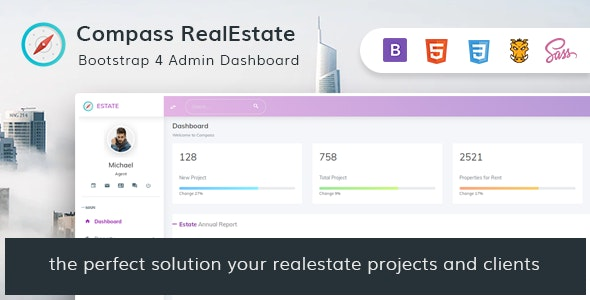 Compass RealEstate - HTML Admin Template - Admin Templates Site Templates