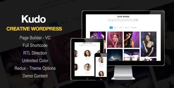 Kudo - Portfolio, Marketing Landing Page WordPress Theme - Portfolio Creative