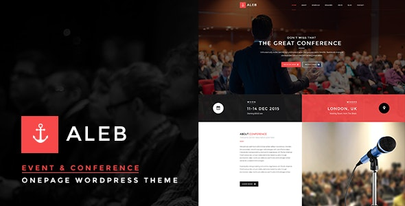 Event WordPress Theme for Conference Marketing - Aleb - Marketing Corporate