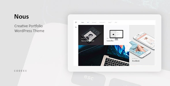 Nous - Creative Portfolio WordPress Theme - Portfolio Creative