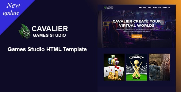 Cavalier - Games Studio HTML Template - Creative Site Templates